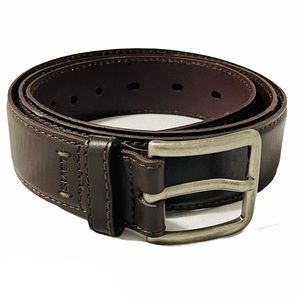 Levi's dark brown men's dress leather belt 40